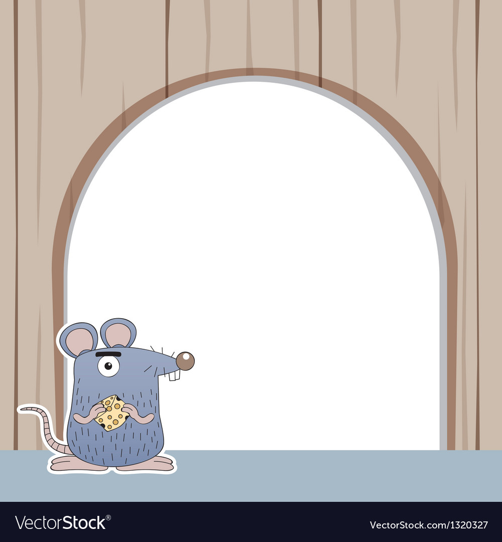 Rat with white blank vector | Price: 1 Credit (USD $1)