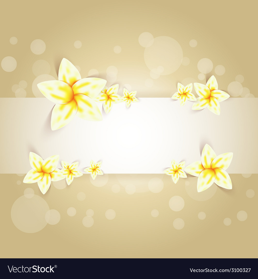 Spring flowers card vector | Price: 1 Credit (USD $1)
