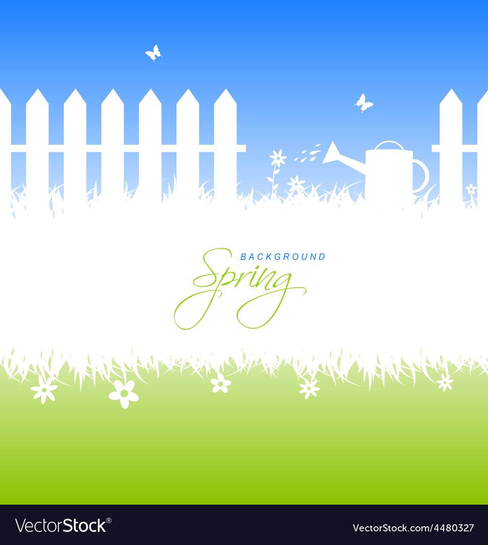 Spring garden background with copyspace vector | Price: 1 Credit (USD $1)