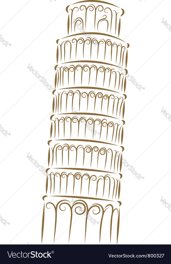 Tower of pisa vector | Price: 1 Credit (USD $1)