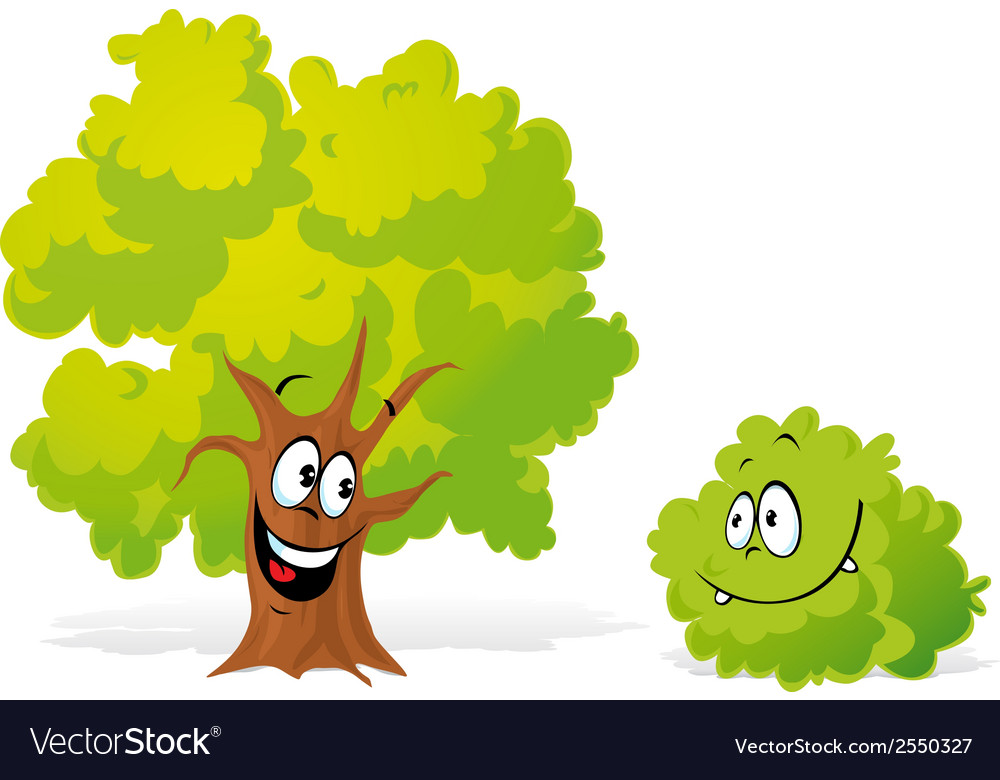 Tree and bush vector | Price: 1 Credit (USD $1)