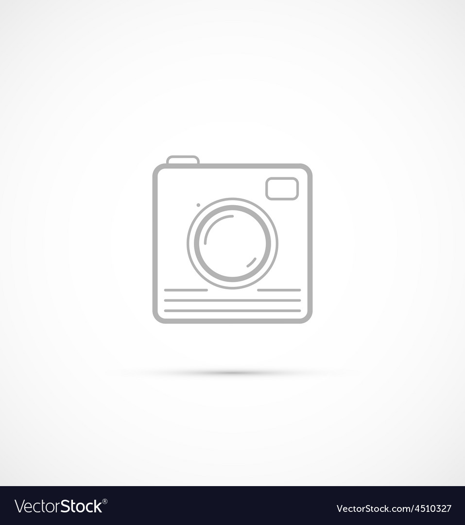 Trendy flat hipster camera photo icon vector | Price: 1 Credit (USD $1)