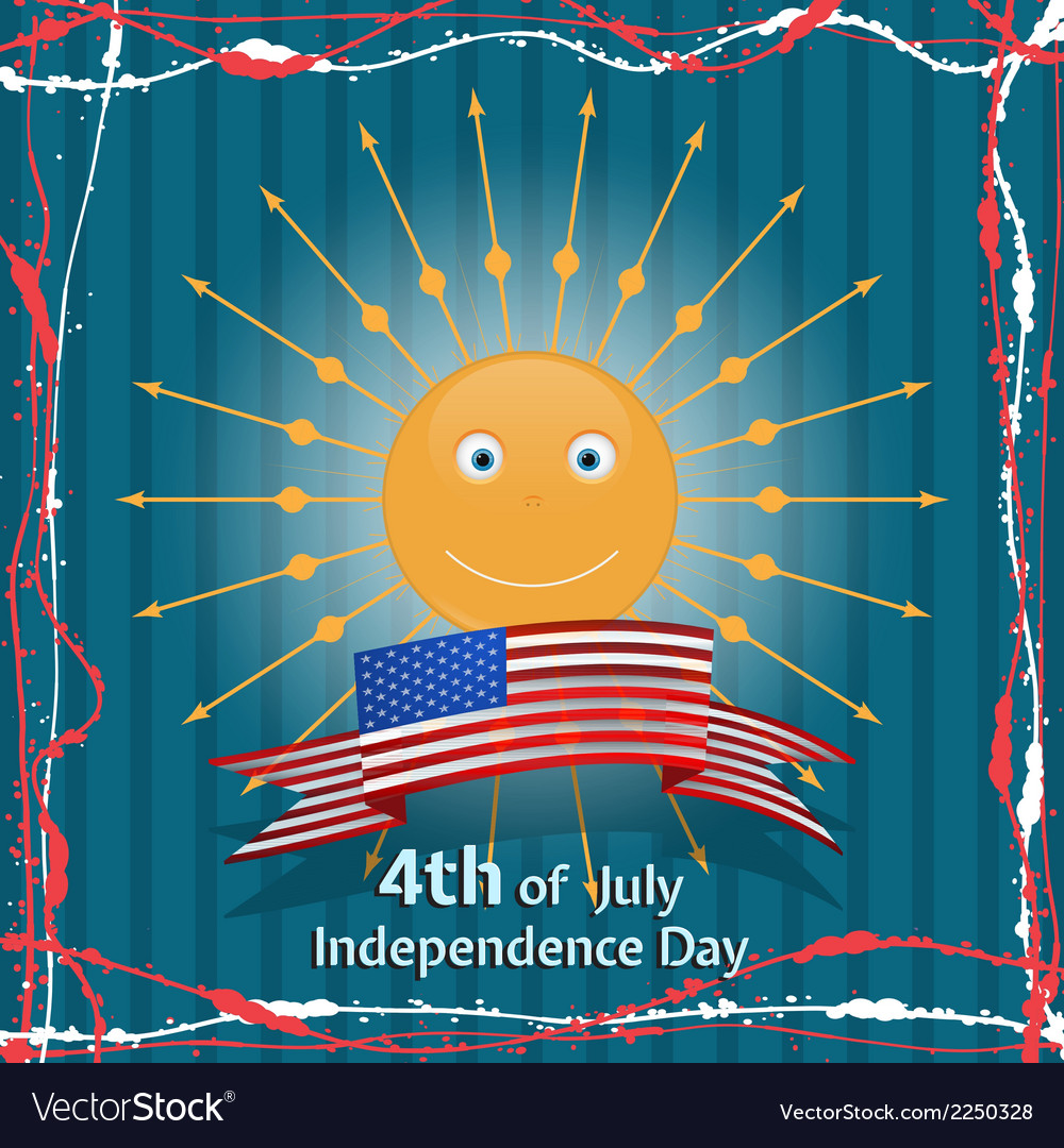 American independence day concept vector   Price: 1 Credit (USD $1)