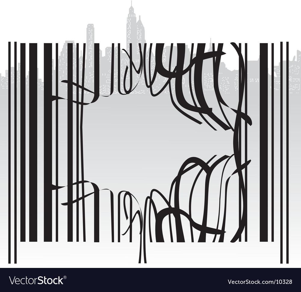 Broken barcode vector | Price: 1 Credit (USD $1)