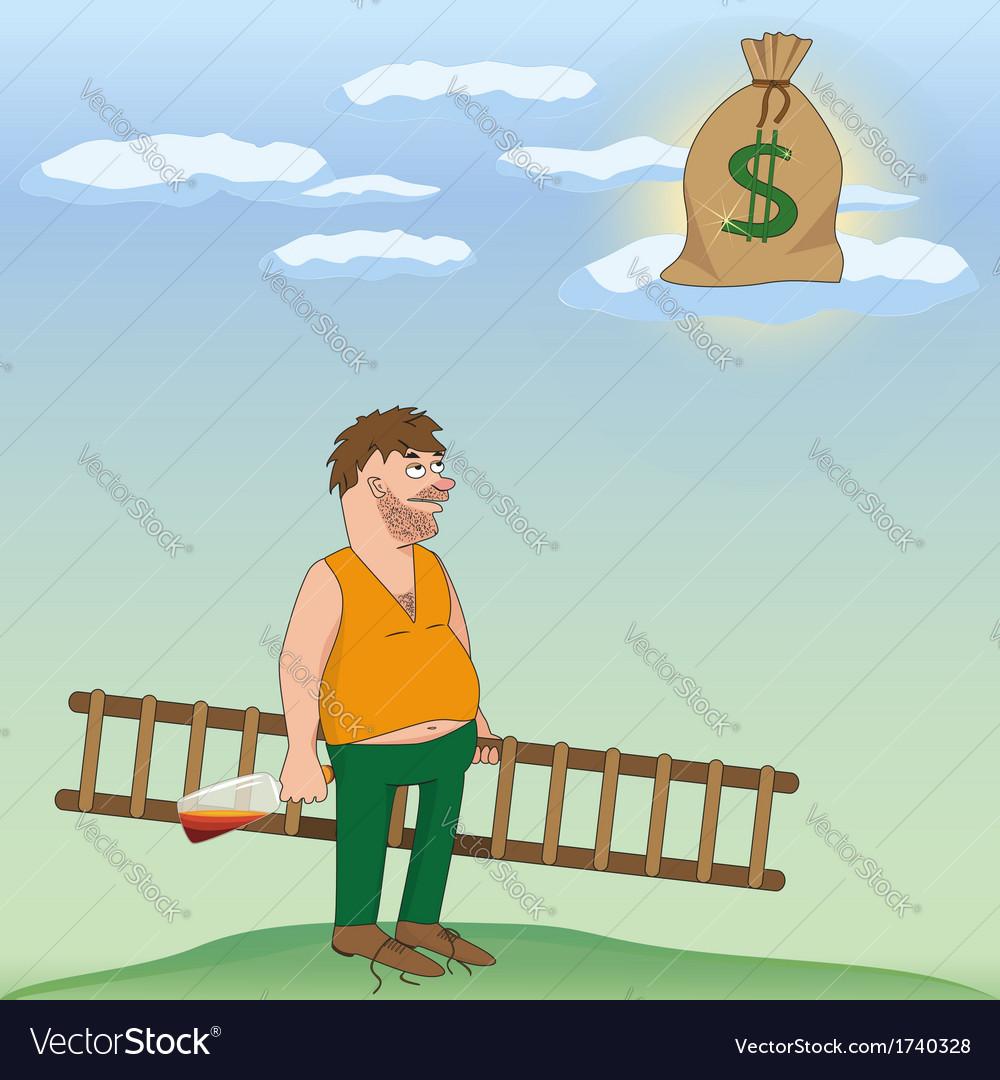 Drinking man cartoon vector | Price: 1 Credit (USD $1)