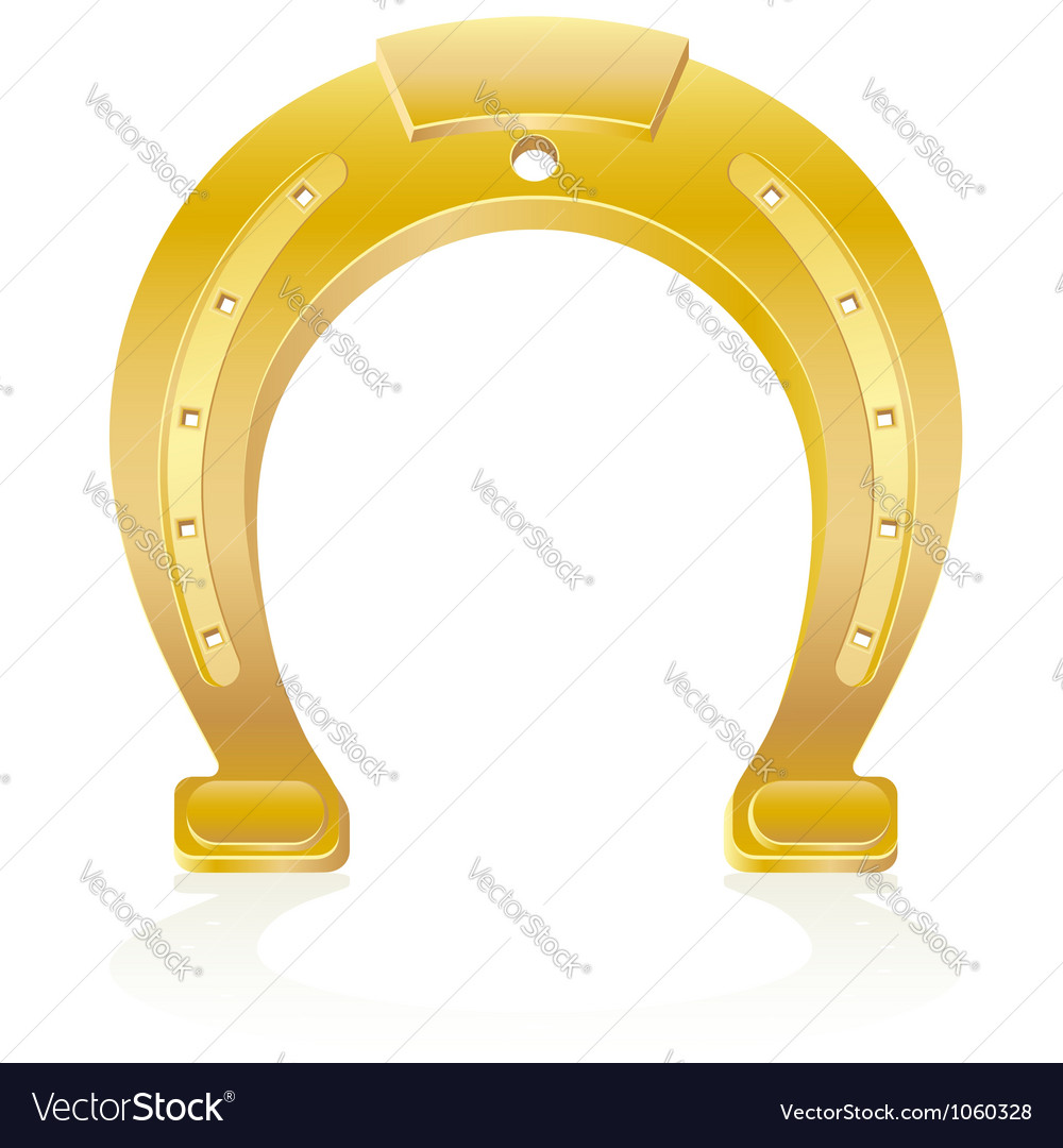 Gold horseshoe talisman charm vector | Price: 1 Credit (USD $1)