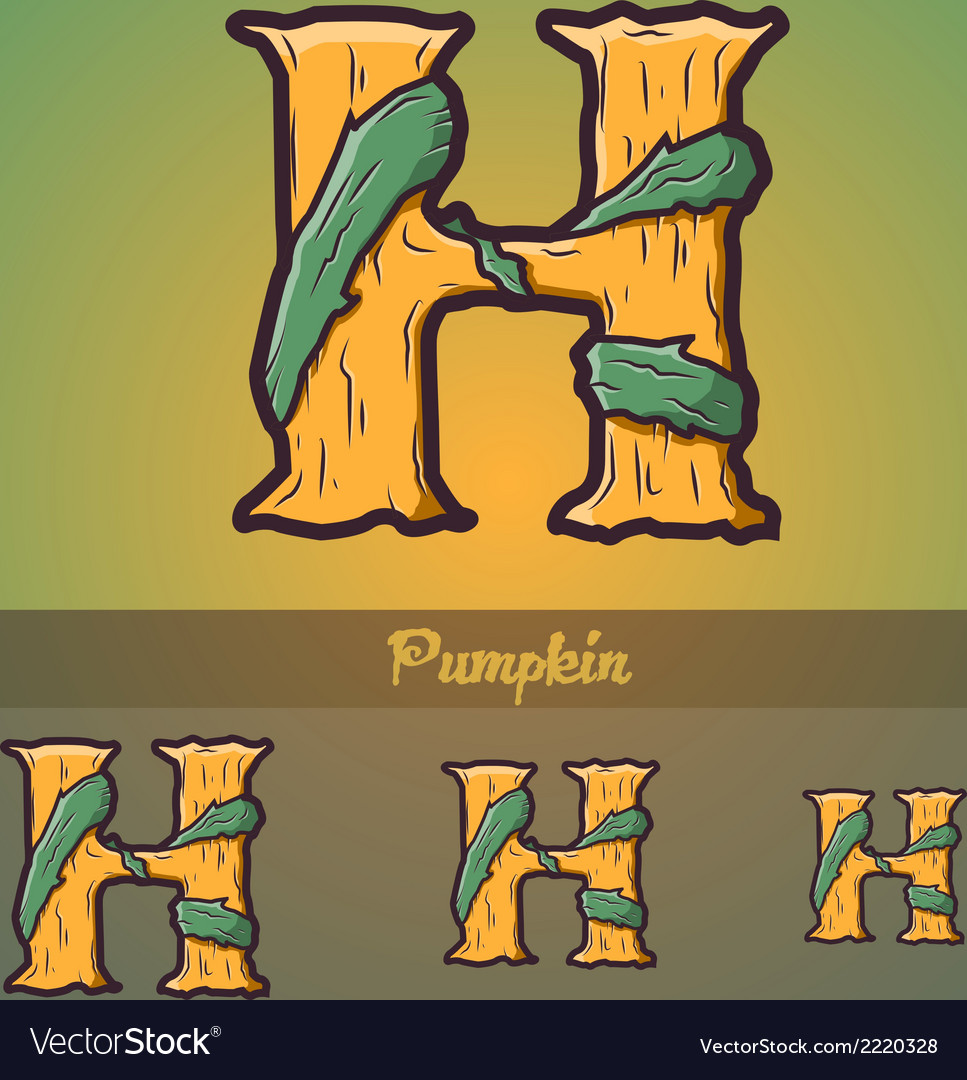 Halloween decorative alphabet - h letter vector | Price: 1 Credit (USD $1)