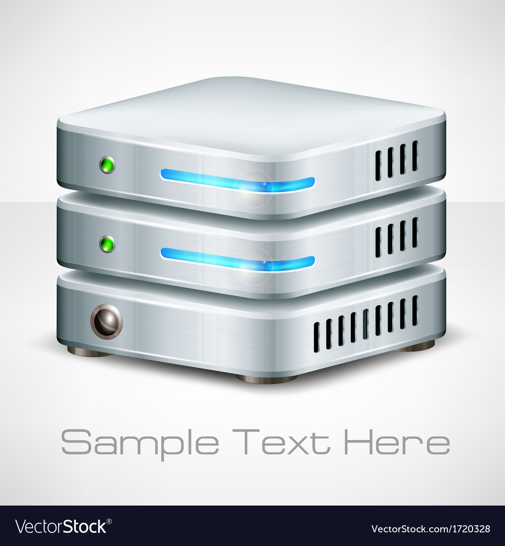 Network server on white vector | Price: 1 Credit (USD $1)