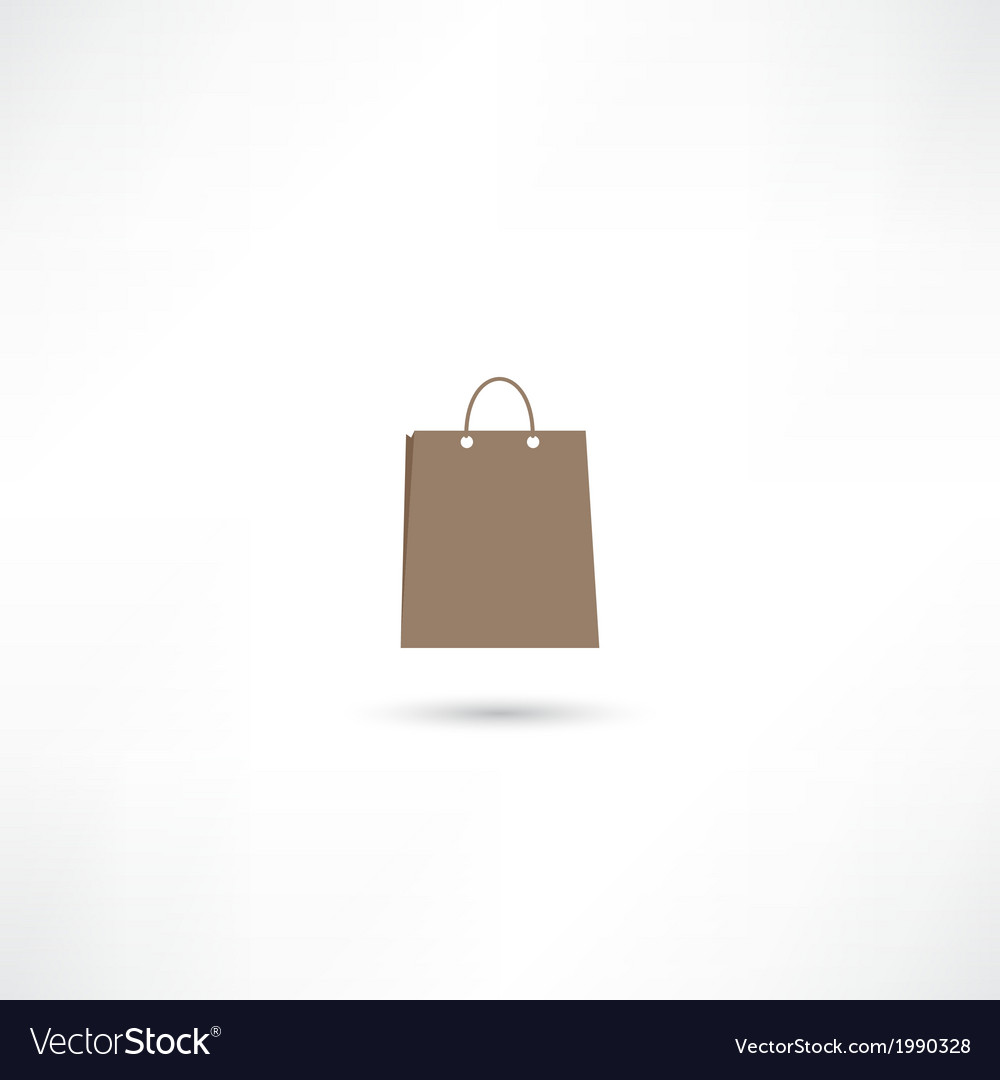 Paper bag icon vector | Price: 1 Credit (USD $1)