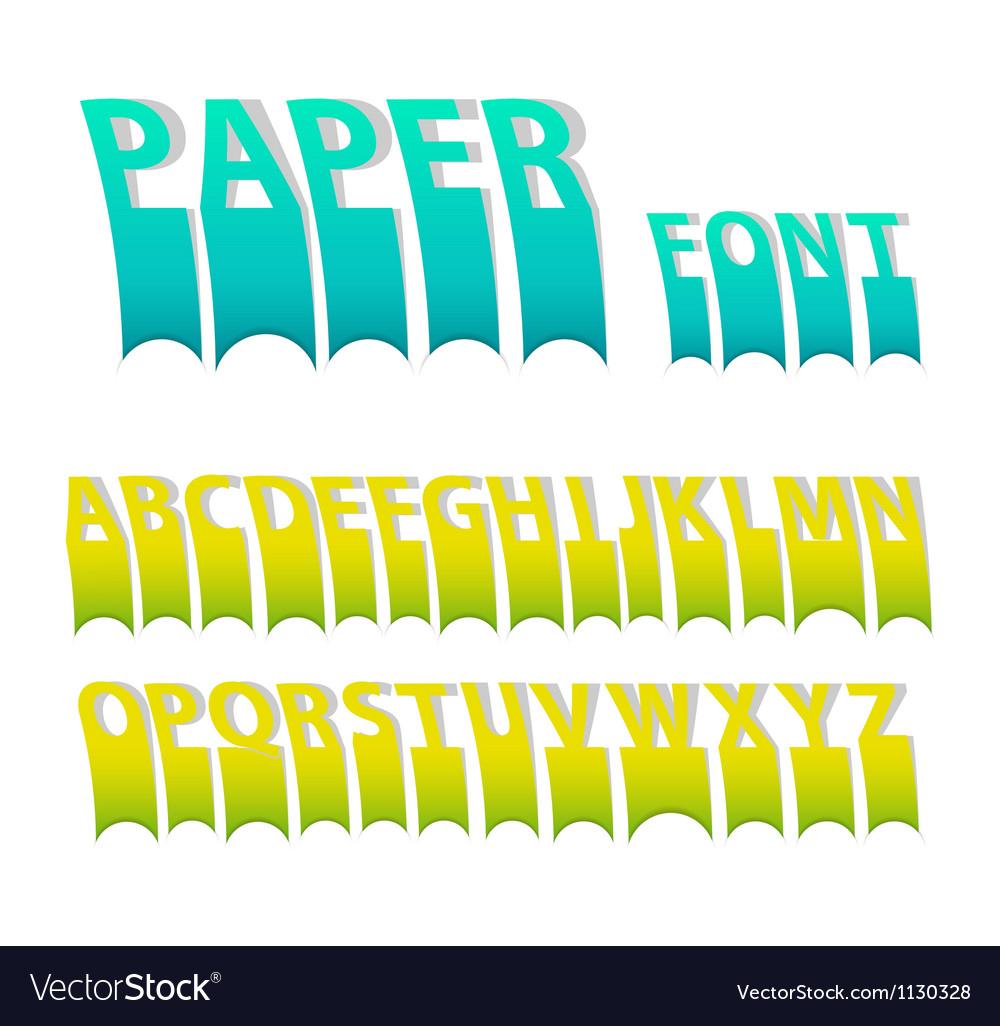 Paper font vector | Price: 1 Credit (USD $1)
