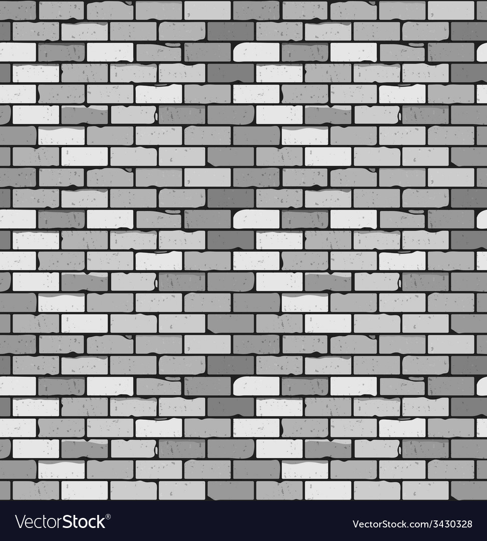 Seamless pattern of gray brick with cracks and vector | Price: 1 Credit (USD $1)