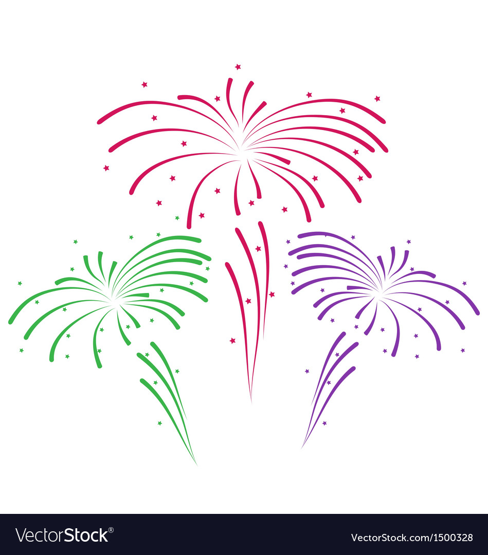 Sketch for abstract colorful firework vector | Price: 1 Credit (USD $1)