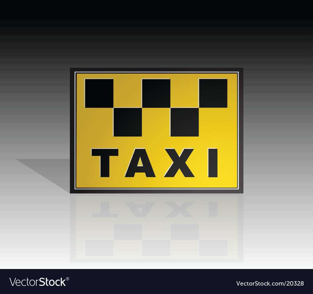 Taxi sign element vector | Price: 1 Credit (USD $1)