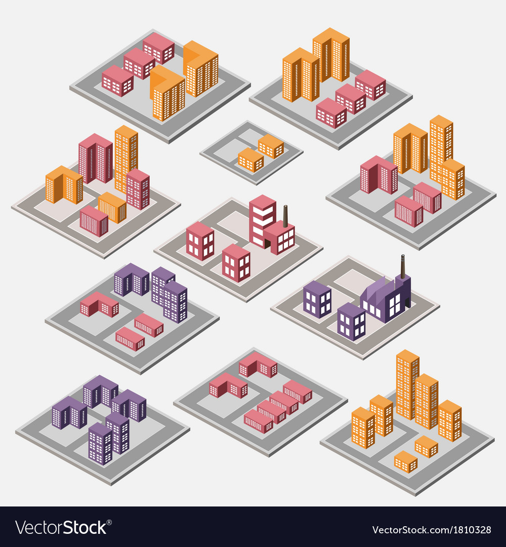 Urban and industrial buildings vector | Price: 1 Credit (USD $1)