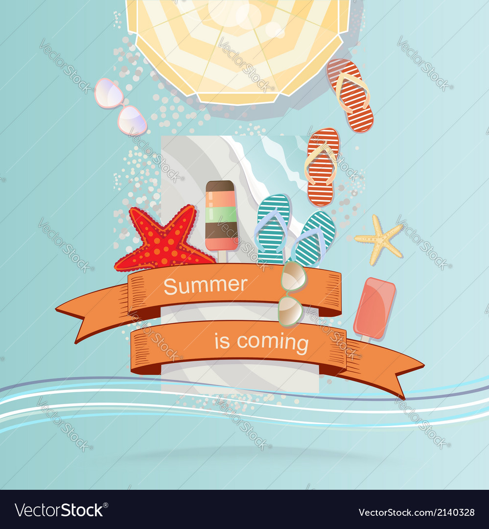 Vintage style summer vector | Price: 1 Credit (USD $1)