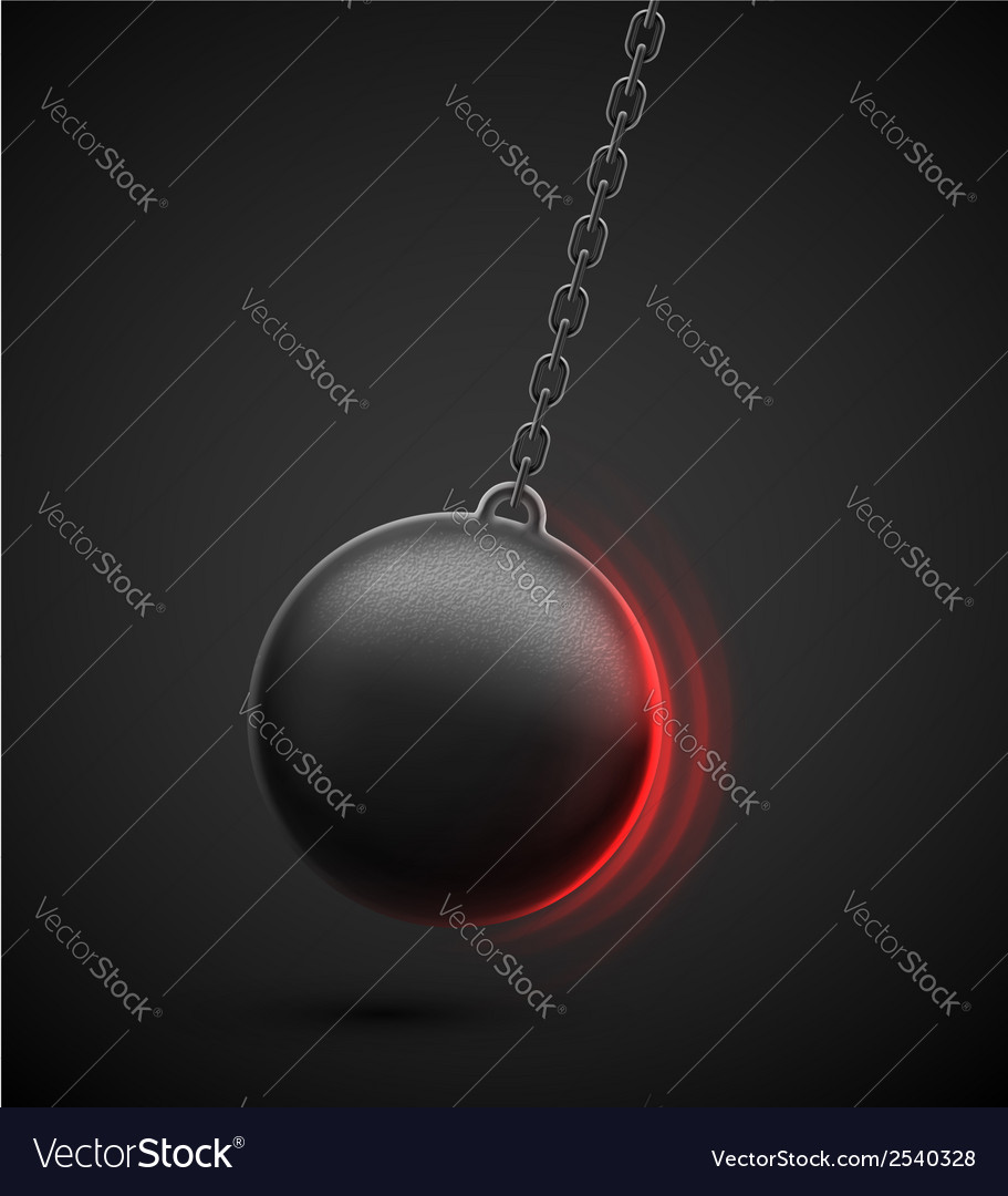 Wrecking ball vector | Price: 1 Credit (USD $1)