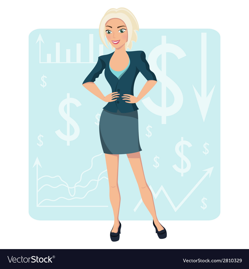 Blond business woman vector | Price: 1 Credit (USD $1)