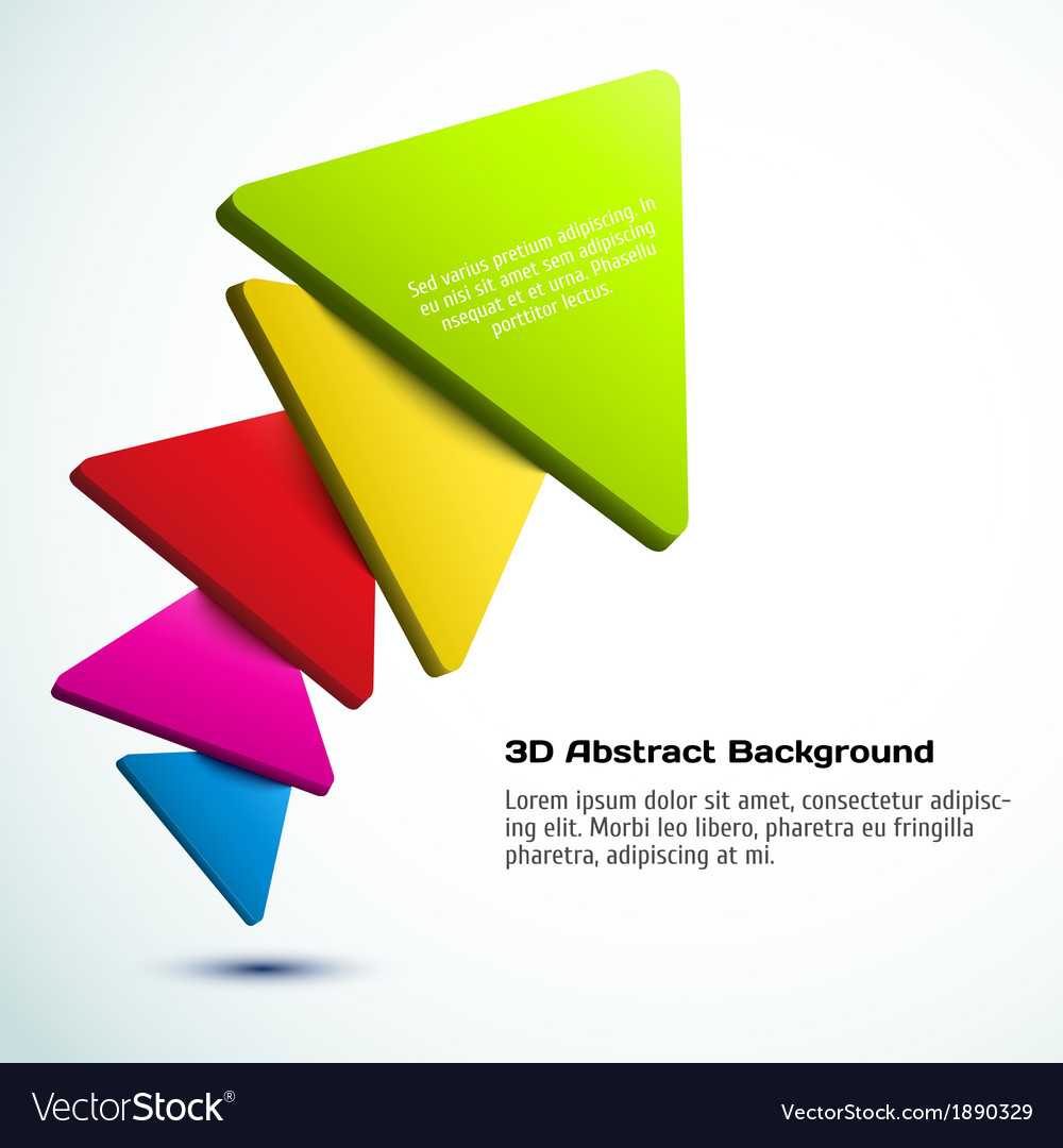 Colorful 3d triangle background vector | Price: 1 Credit (USD $1)