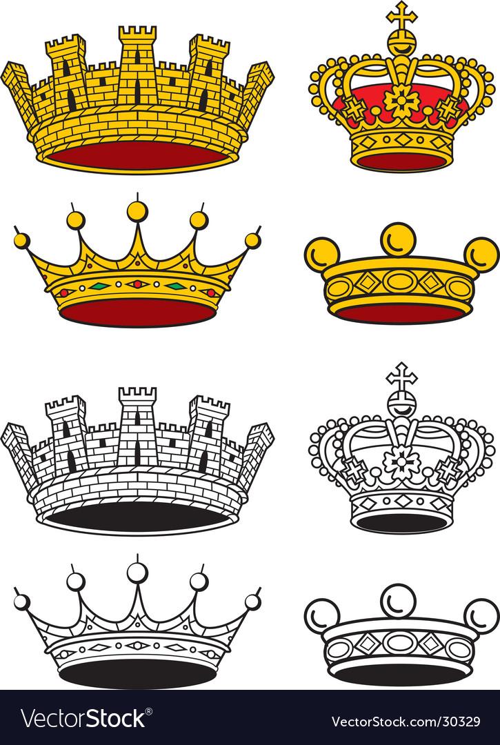 Crowns set vector   Price: 1 Credit (USD $1)