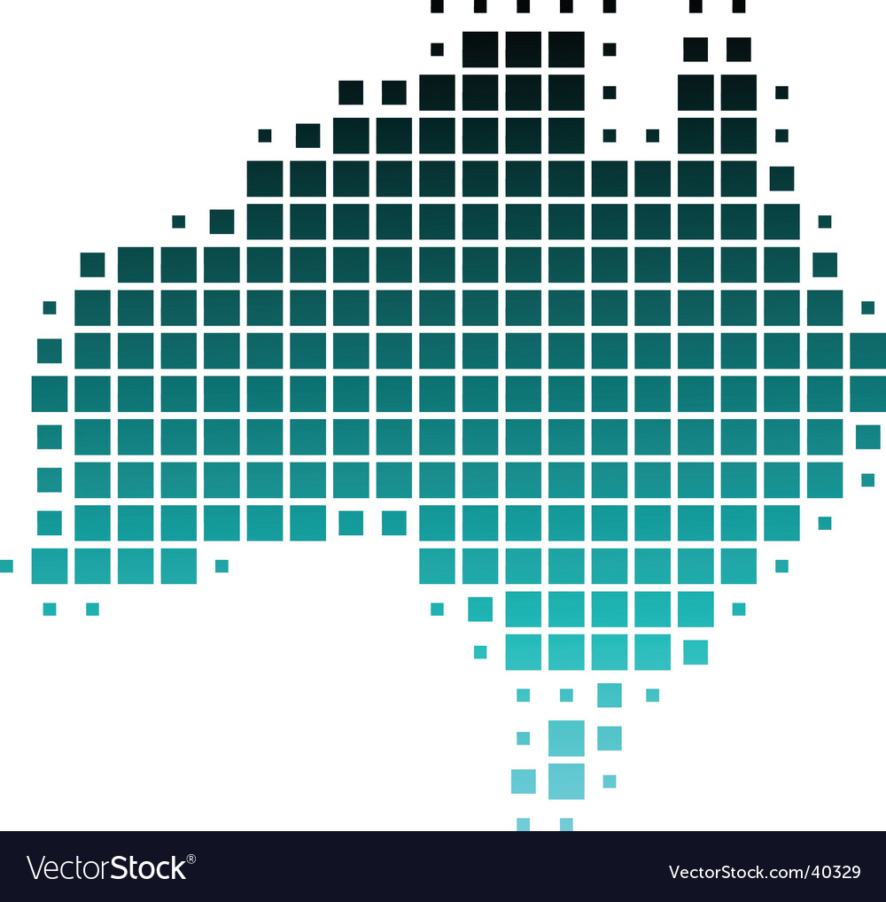 Dotted map of australia vector | Price: 1 Credit (USD $1)