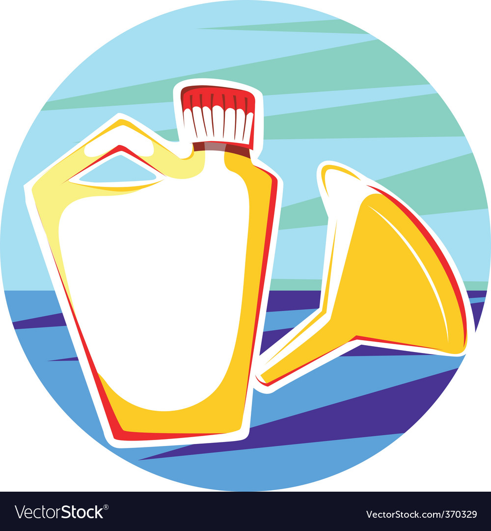 Funnel and container vector | Price: 1 Credit (USD $1)