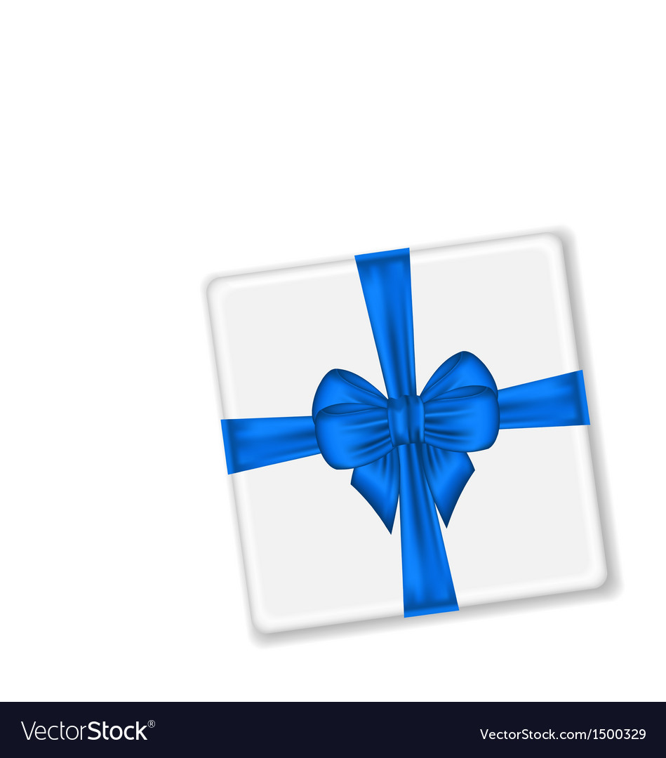 Present with blue bow for your holiday vector | Price: 1 Credit (USD $1)