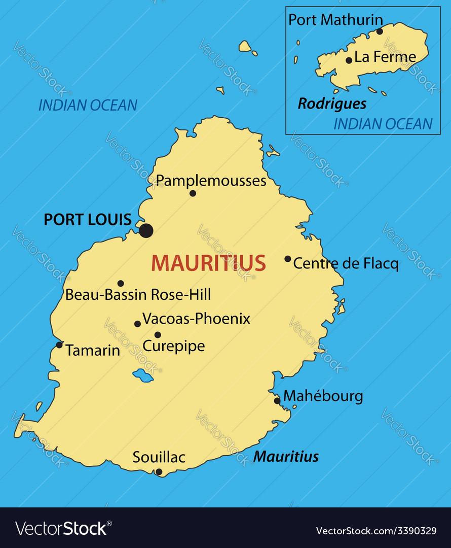 Republic of mauritius - map vector | Price: 1 Credit (USD $1)