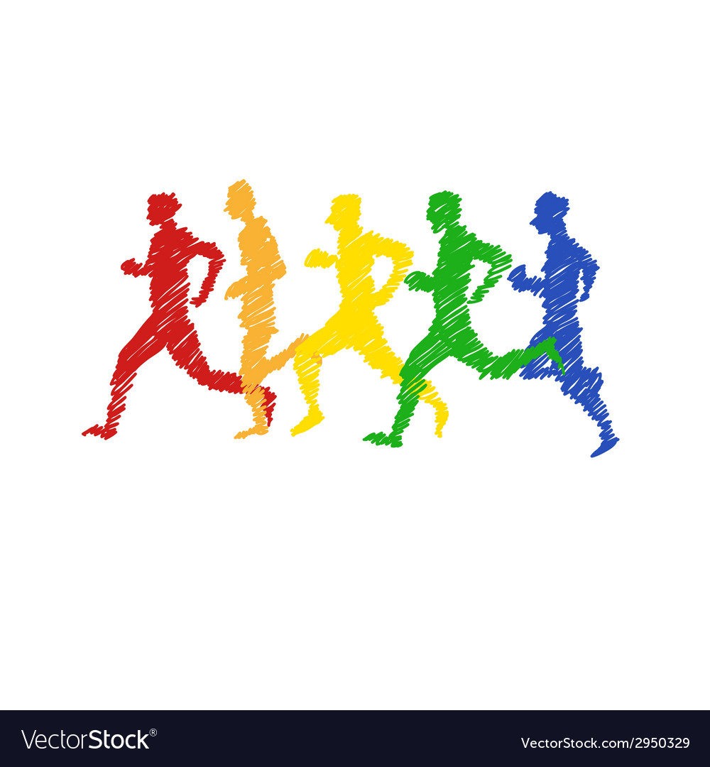 Sport man abstract isolated vector   Price: 1 Credit (USD $1)