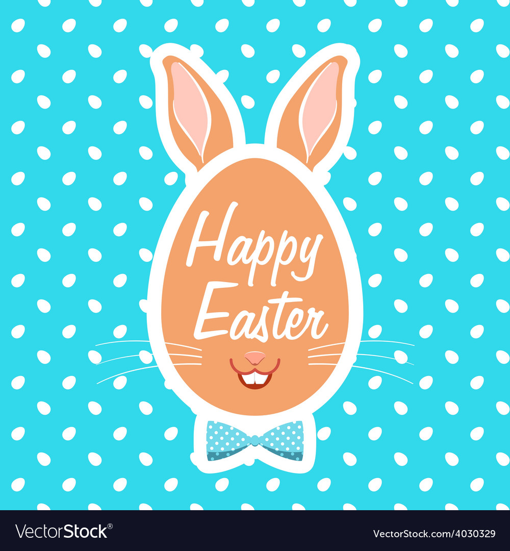 With easter eggs vector | Price: 1 Credit (USD $1)
