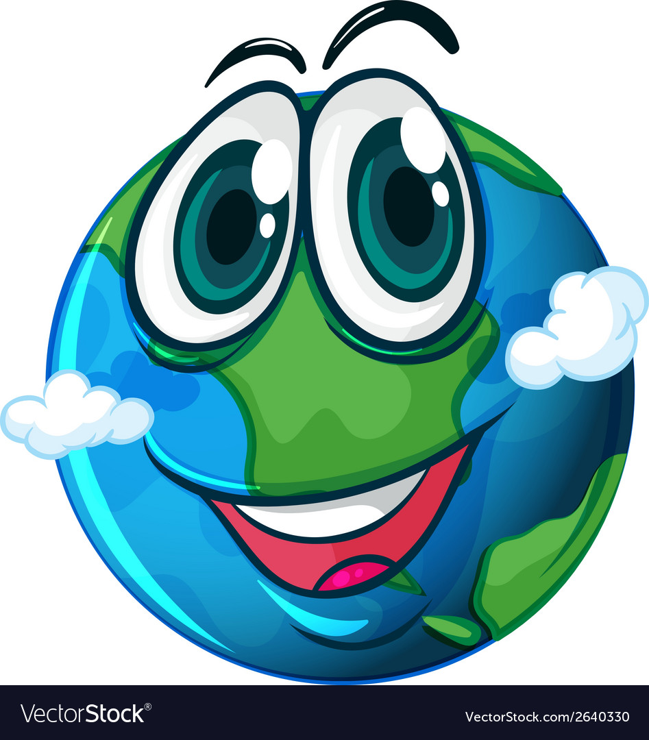 A smiling planet earth vector | Price: 1 Credit (USD $1)