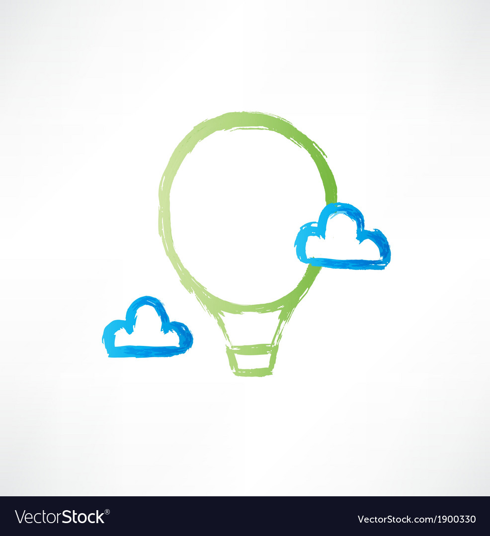 Balloon in the clouds icon vector | Price: 1 Credit (USD $1)