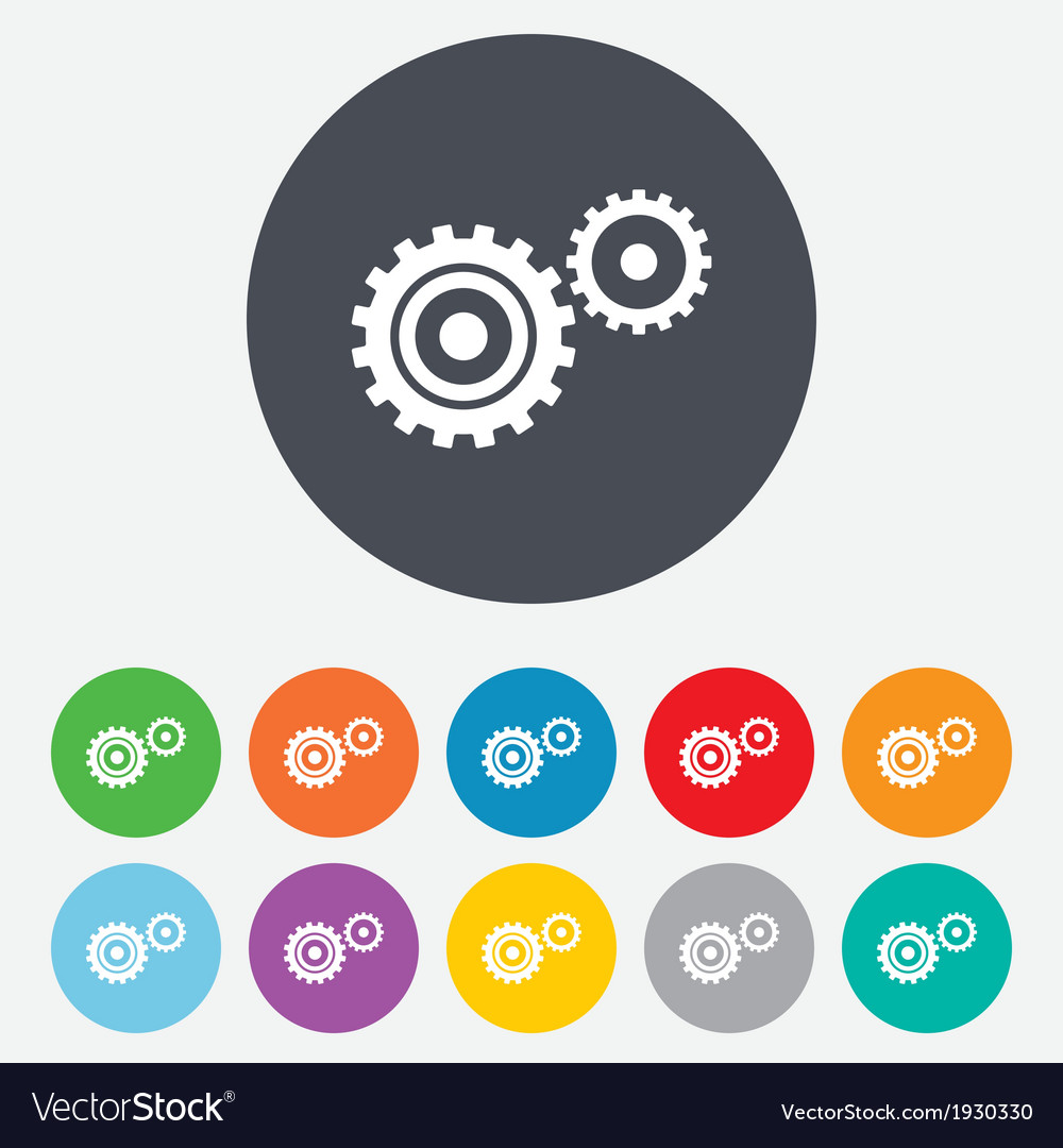 Cog settings sign icon cogwheel gear symbol vector | Price: 1 Credit (USD $1)
