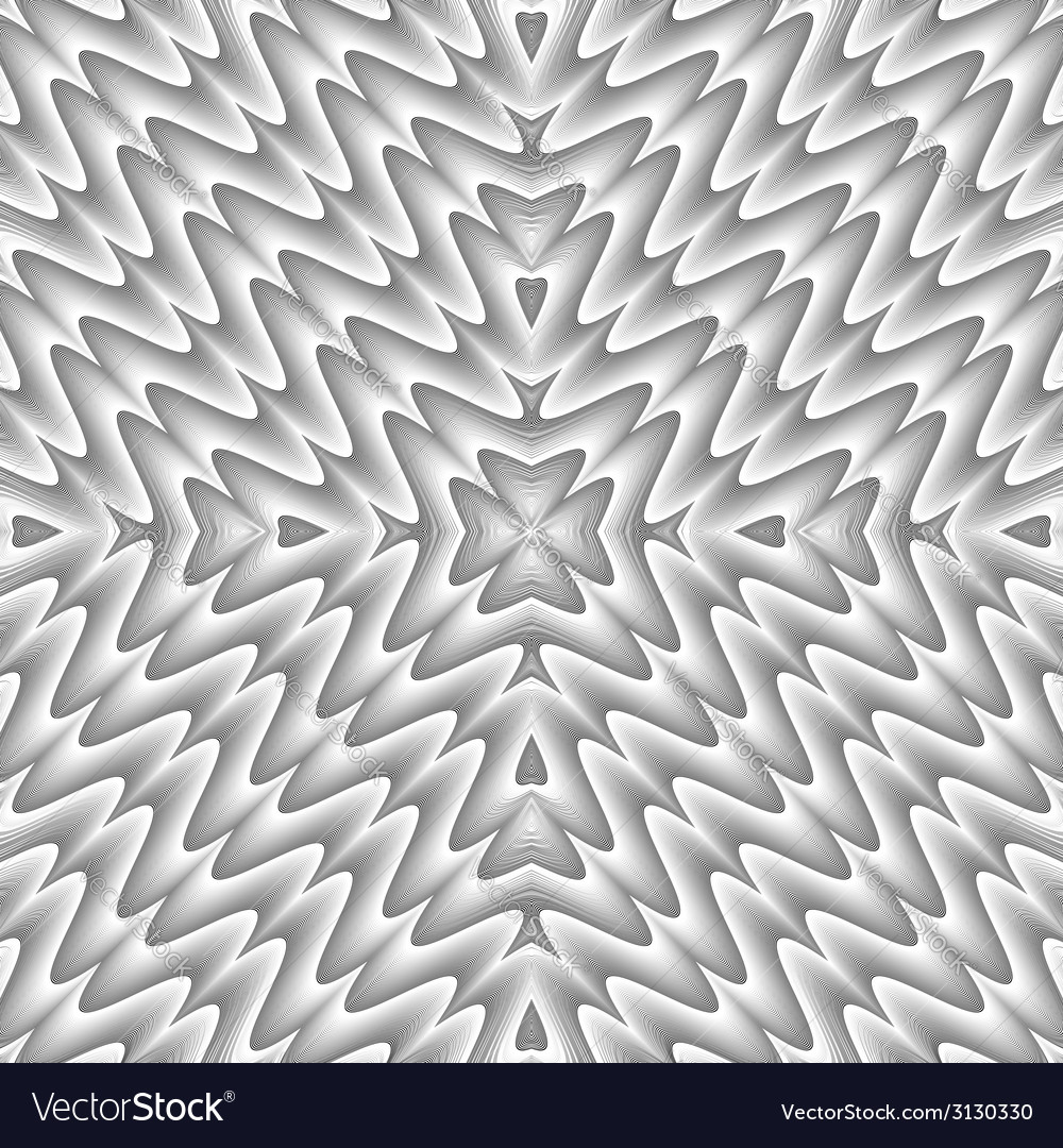 Design seamless monochrome zigzag wave pattern vector | Price: 1 Credit (USD $1)