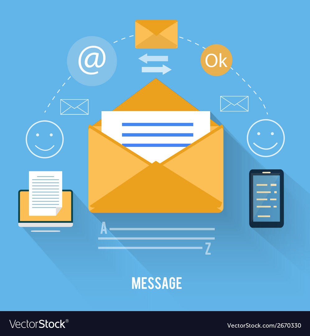 Envelope with message and email technology vector | Price: 1 Credit (USD $1)