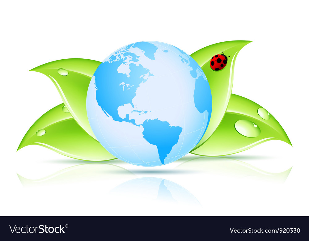 Green earth symbol vector | Price: 3 Credit (USD $3)