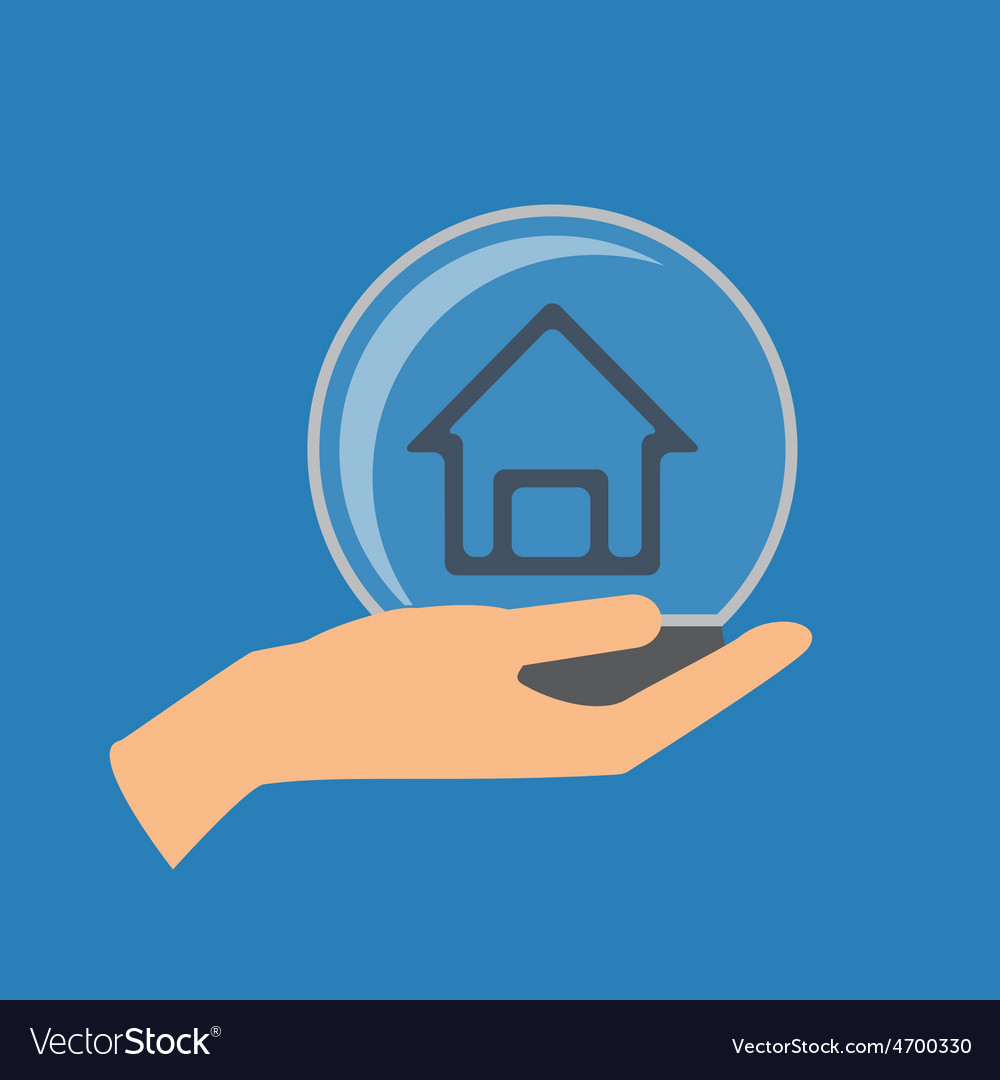 Home insurance vector | Price: 1 Credit (USD $1)
