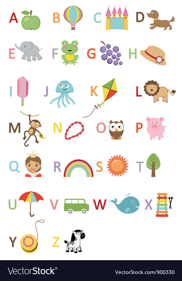 Kids alphabet vector | Price: 3 Credit (USD $3)