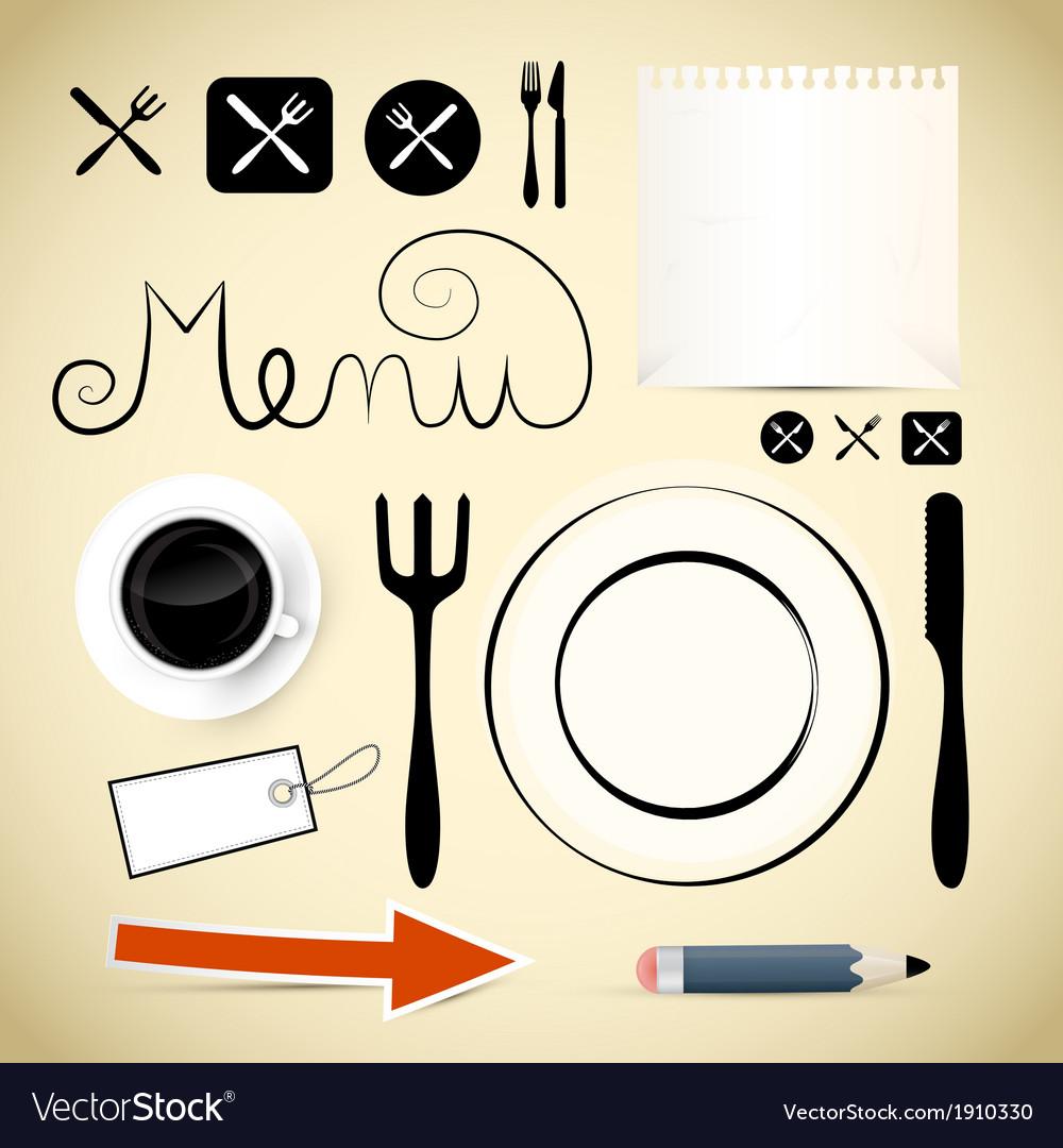 Restaurant menu design elements vector | Price: 1 Credit (USD $1)
