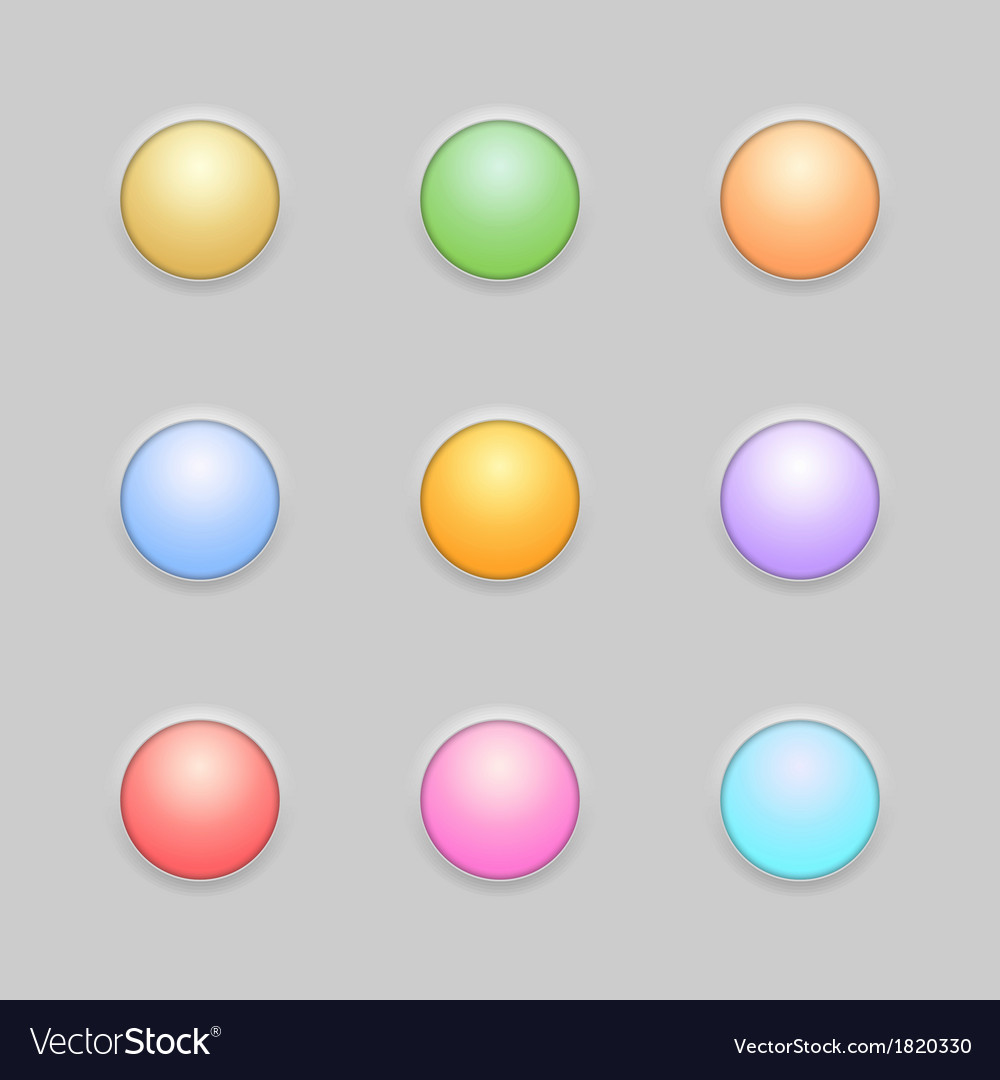 Round button template set vector | Price: 1 Credit (USD $1)