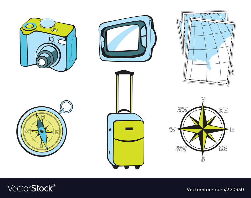 Touristic icons vector | Price: 1 Credit (USD $1)