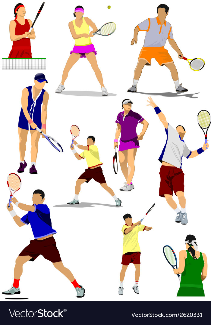 Al 0450 tennis vector | Price: 1 Credit (USD $1)