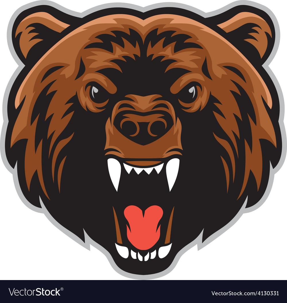 Angry bear head vector   Price: 3 Credit (USD $3)