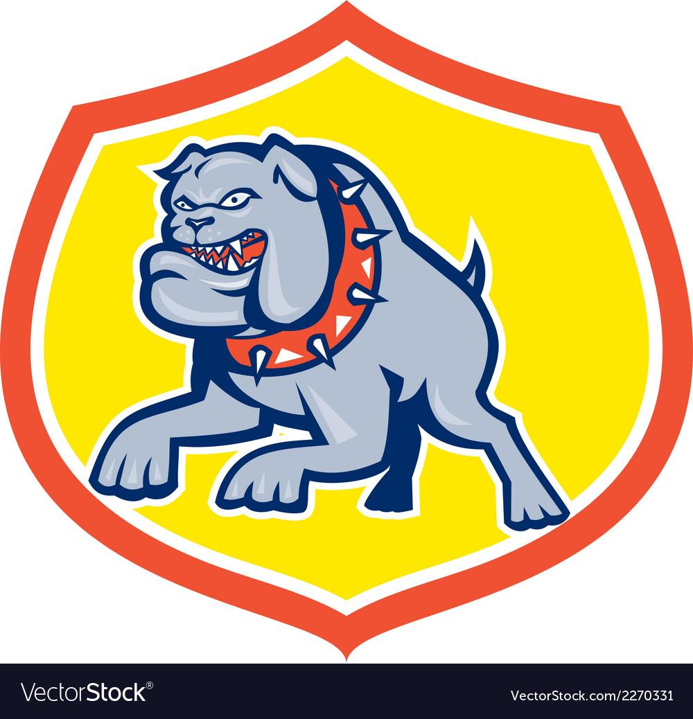 Bulldog dog mongrel attacking retro vector | Price: 1 Credit (USD $1)