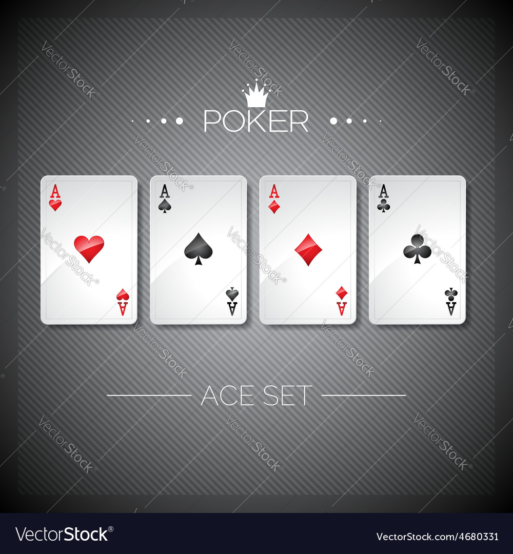 Casino with playing poker cards vector | Price: 1 Credit (USD $1)