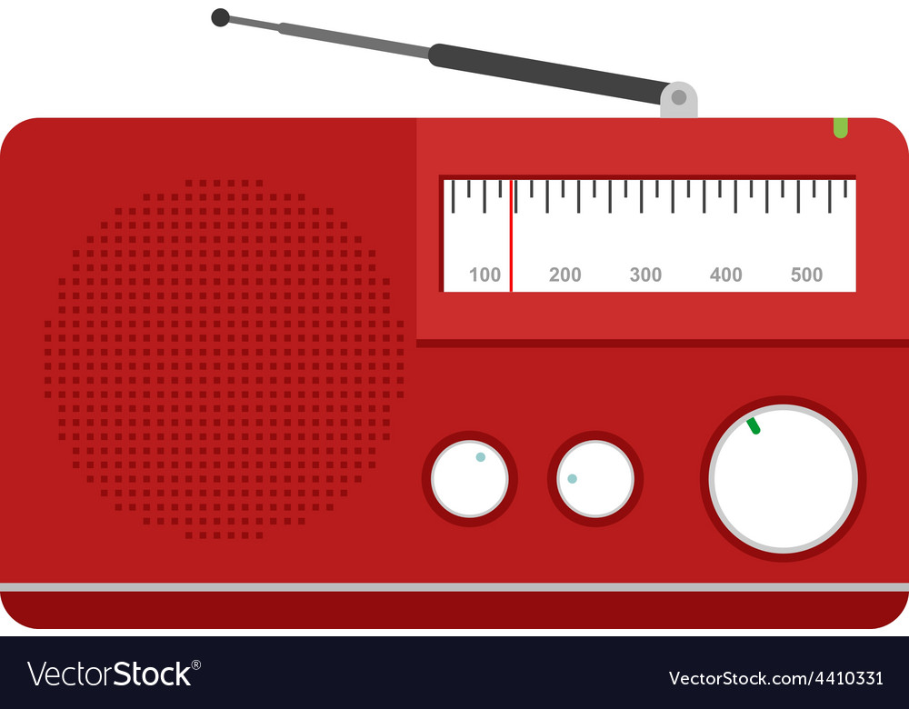 Radio set vector | Price: 1 Credit (USD $1)