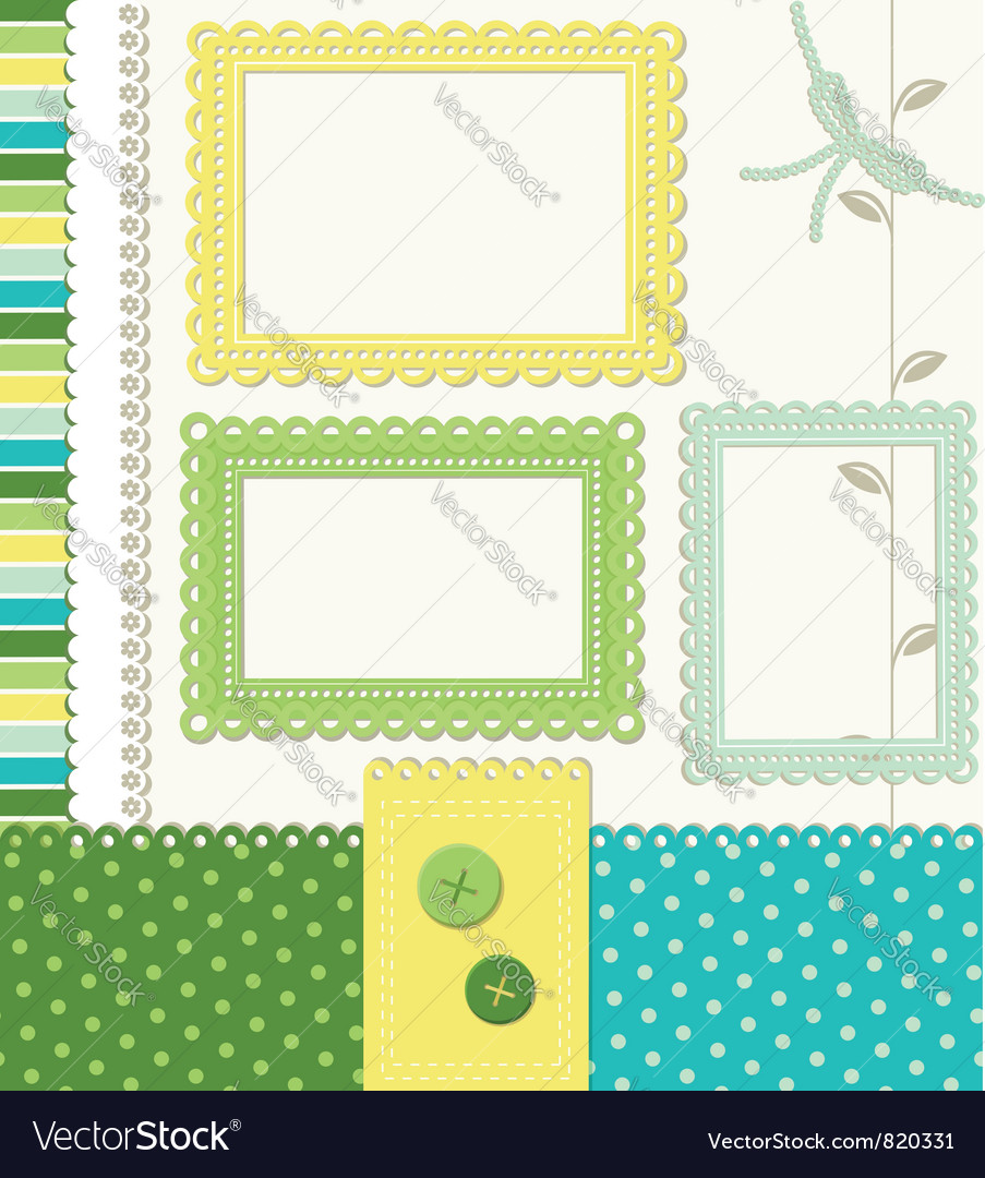 Retro style scrapbooking vector | Price:  Credit (USD $)