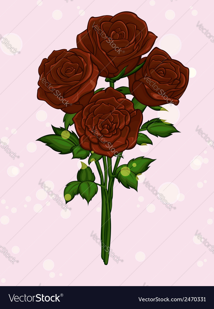 Rose bouquet vector | Price: 1 Credit (USD $1)