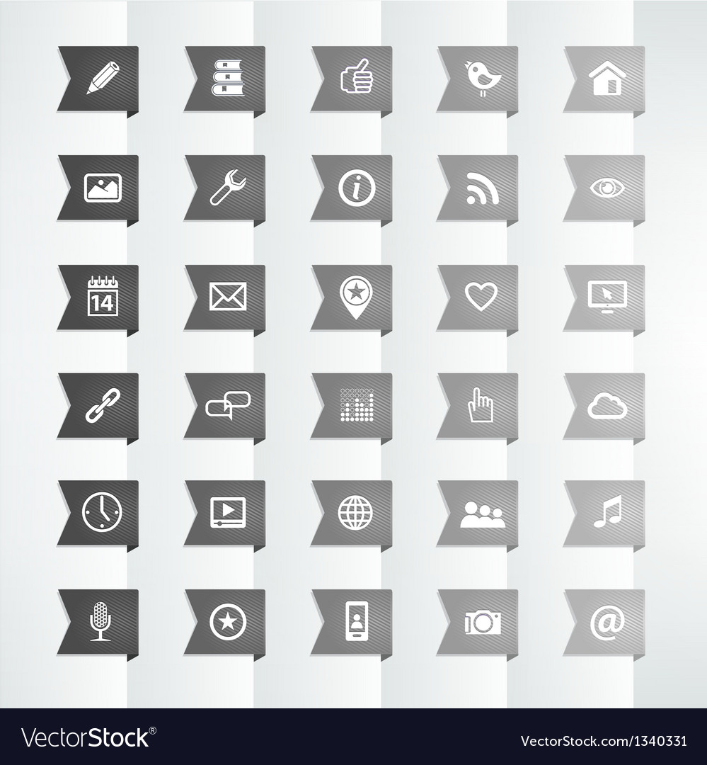 Social icon flag bookmark vector | Price: 1 Credit (USD $1)