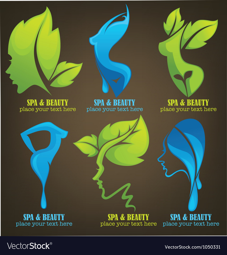 Spa cosmetic and body care collection vector