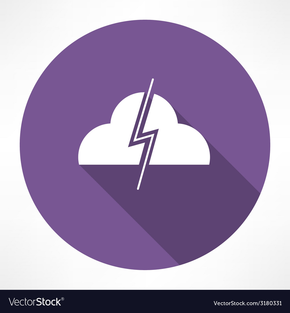 Thundercloud icon vector | Price: 1 Credit (USD $1)